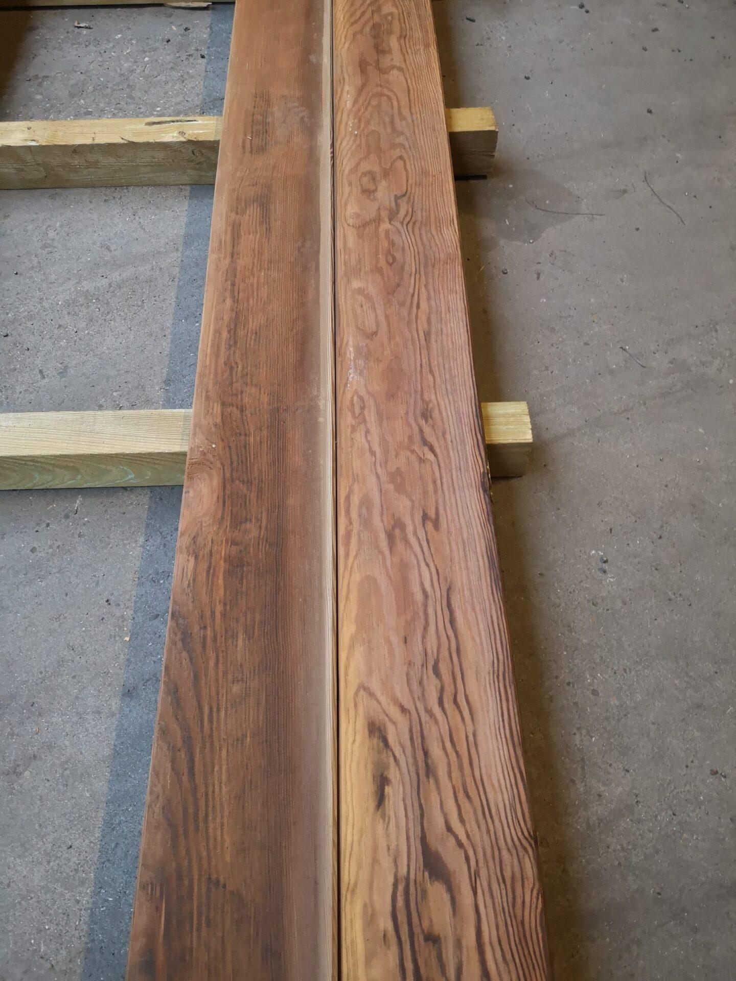 Traitement Terrasse Pin Autoclave lames de terrasse l.250 x l.165 cm x ep.28 mm lisses en bois